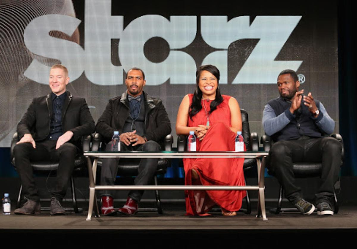 '50 cent and the cast of Power'