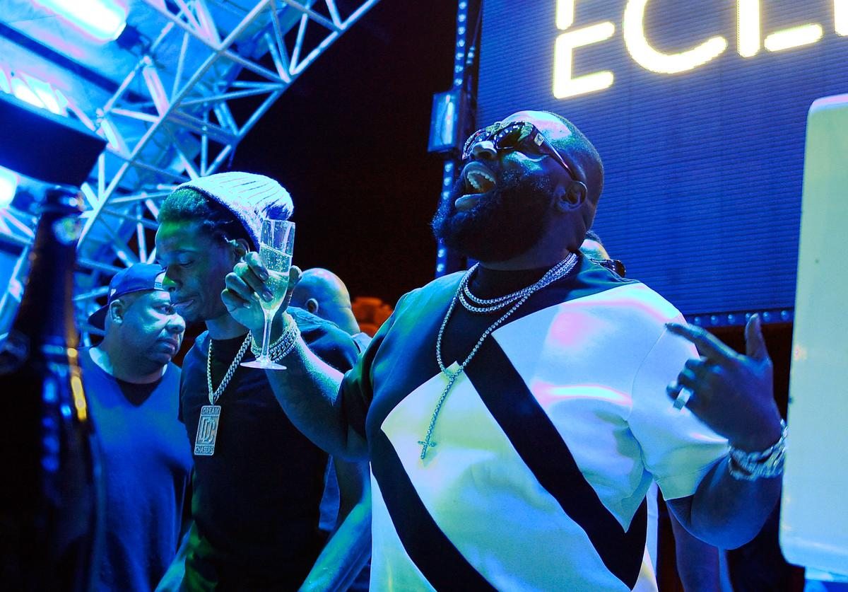 Rick Ross Official Eclipse Launch Party At Daylight Beach Club With Host Rick Ross