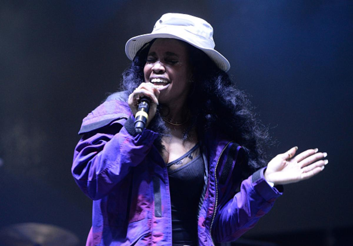 SZA performing at Tyler the Creator's 5th Annual Camp Flog Gnaw Carnival.