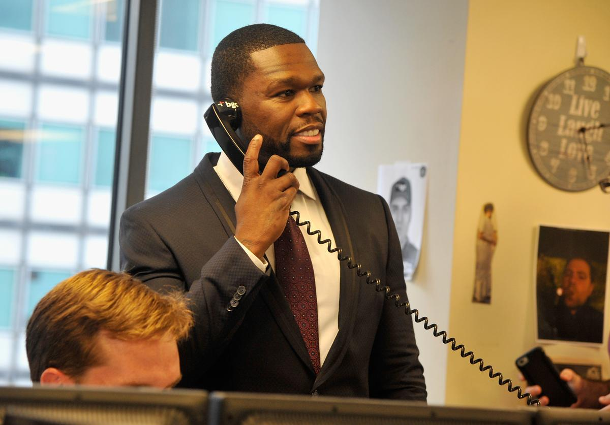 50 Cent Annual Charity Day Hosted By Cantor Fitzgerald And BGC - BGC Office - Inside