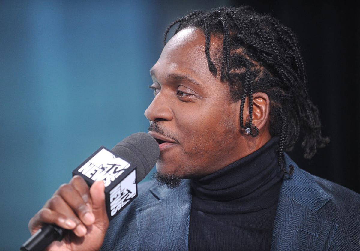 Hip-Hop recording artist Pusha T speaks during MTV News Election Night: 'The People's Playhouse' at MTV Studios on November 8, 2016 in New York City.