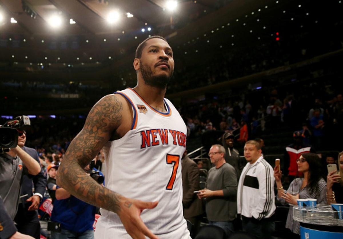 Melo's final game as a member of the Knicks?