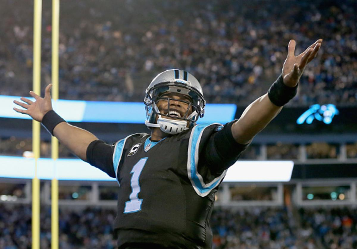 Cam celebrates TD against TB
