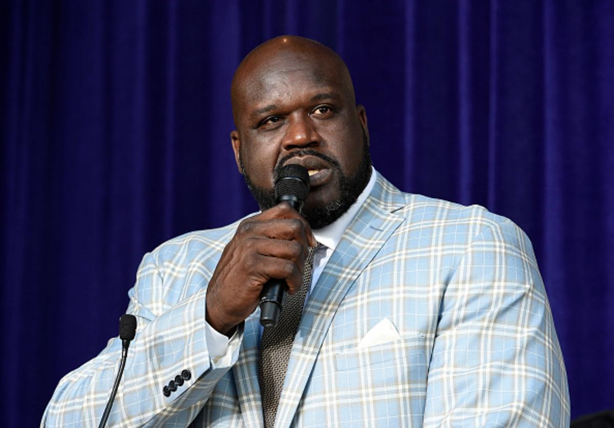 Shaq speaks after statue unveiling at Staples Center