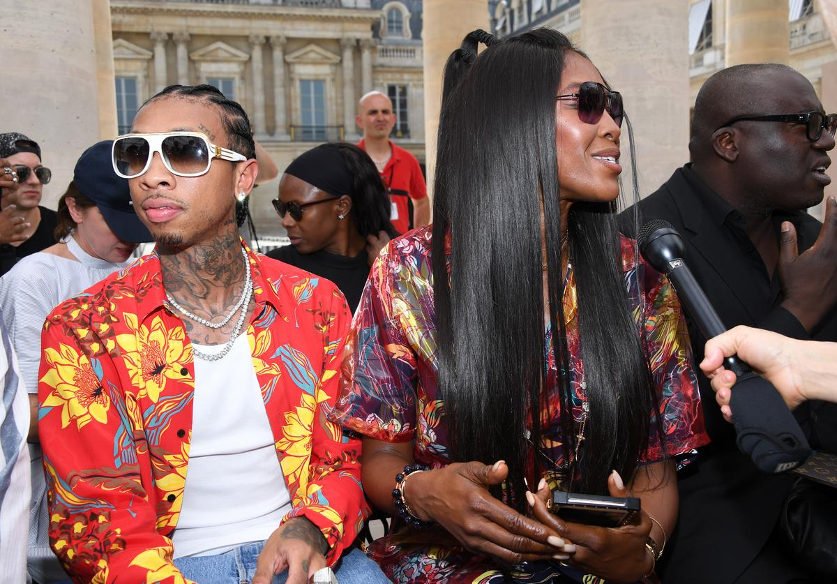 Tyga Louis Vuitton : Front Row - Paris Fashion Week - Menswear Spring/Summer 2018