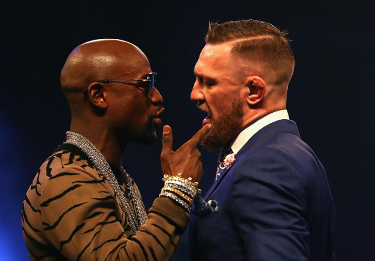 Floyd and Conor at BK presser