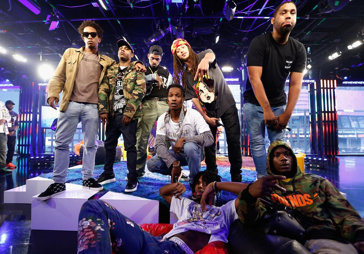 A$AP Mob A$AP Rocky Performs at MTV