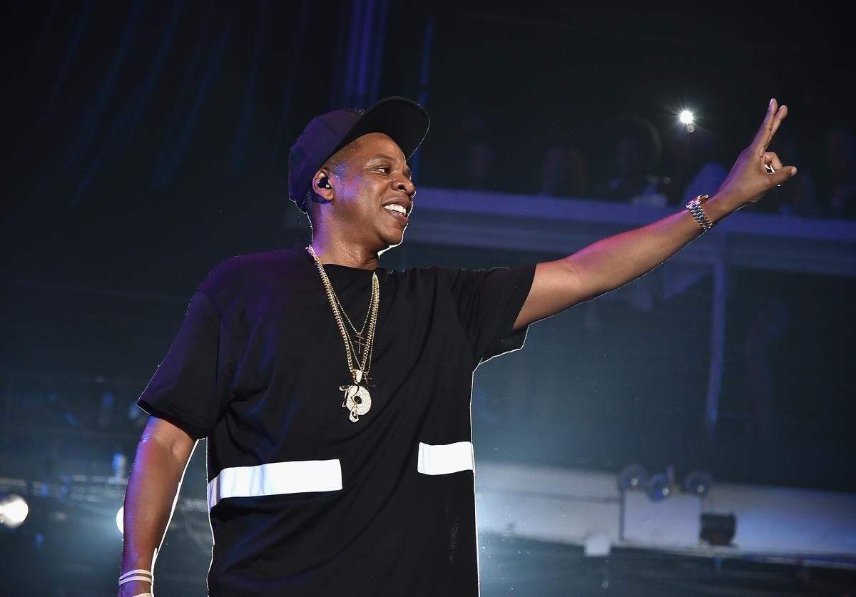 Jay Z performs at Tidal Event