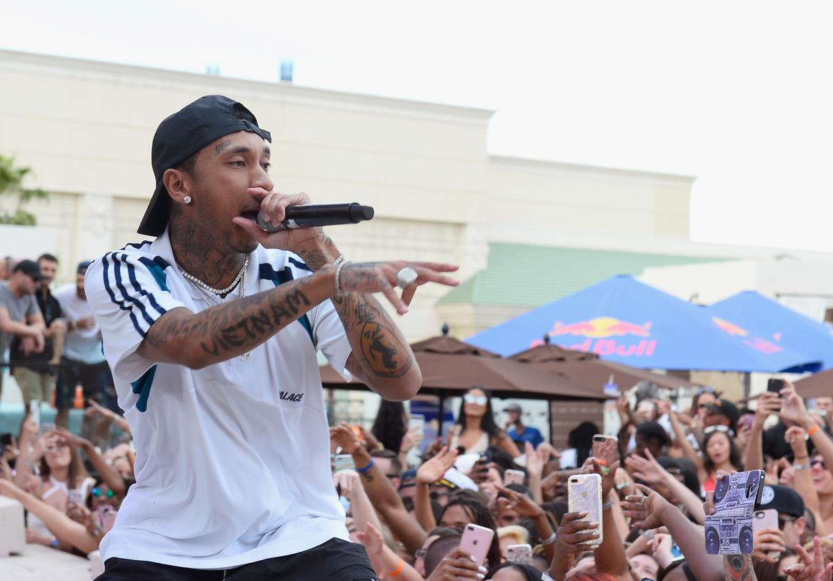 Tyga performs at DAYLIGHT Beach Club