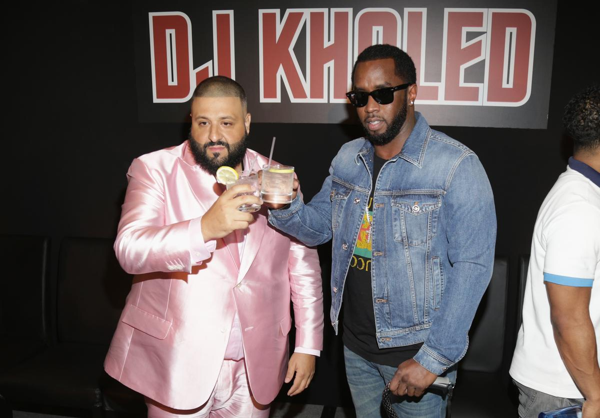 Diddy & DJ Khaled at Khaled's special press conference