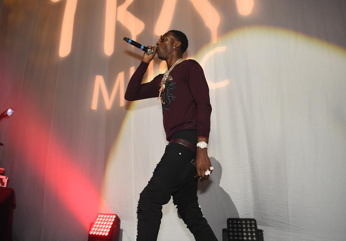 Rapper Young Dolph performs onstage at night four of the Late Night Concert during the 2017 BET Experience at The Novo by Microsoft on June 25, 2017 in Los Angeles, California.