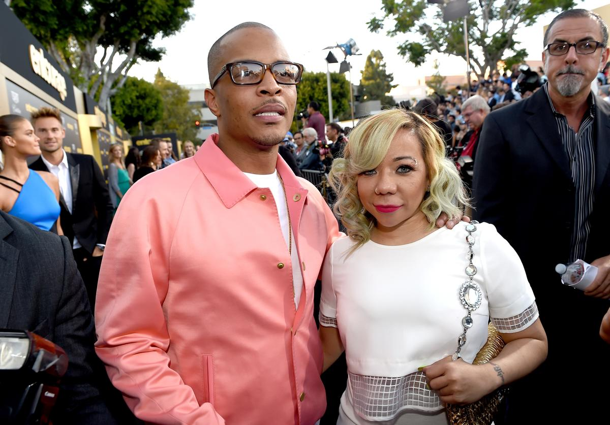 Tiny and TI on red carpet
