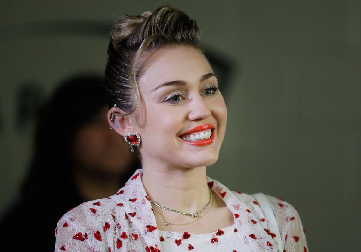 Miley smiling