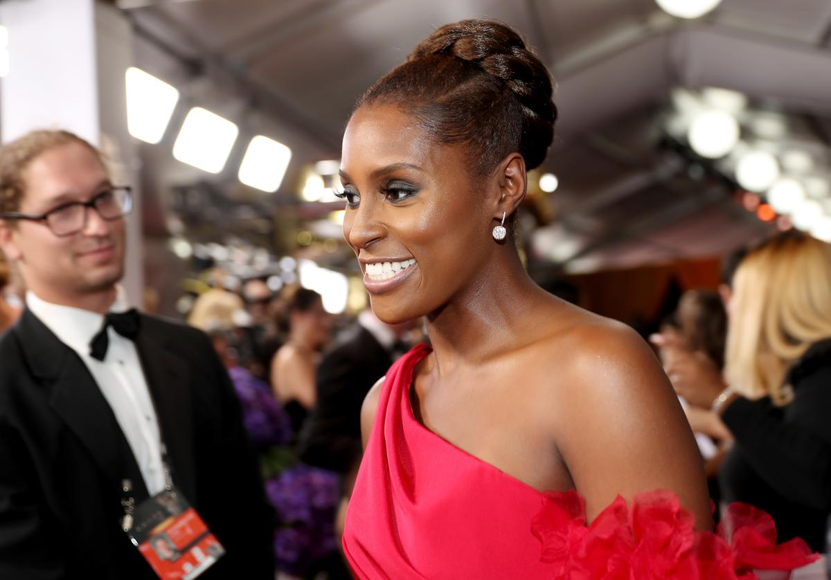 Issa Rae in red