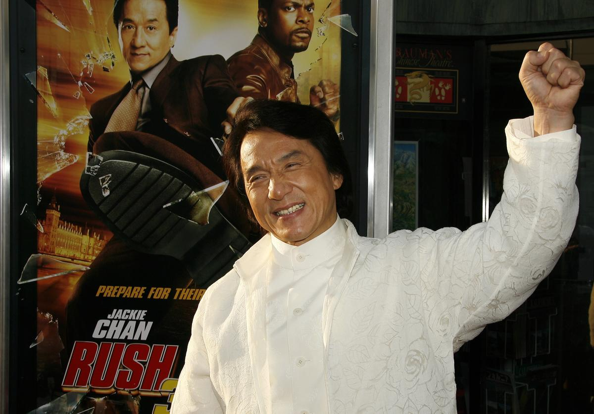 Jackie Chan on red carpet