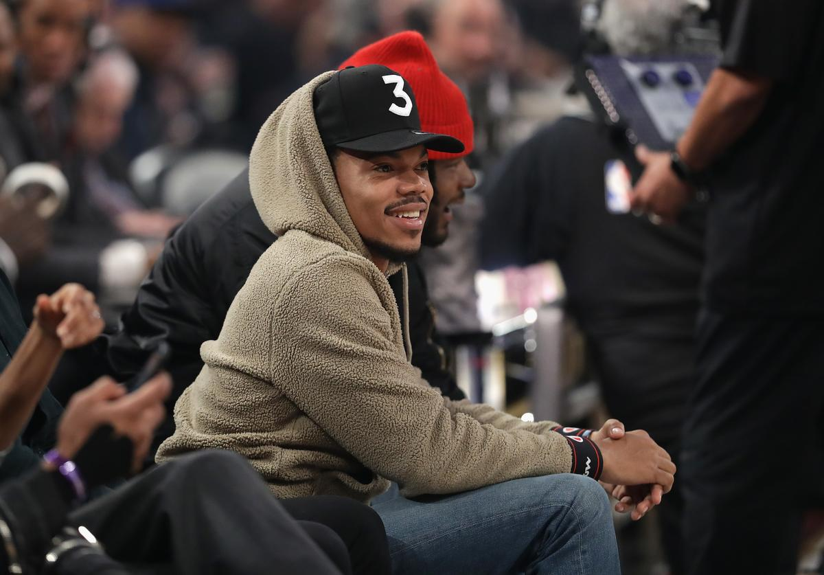 Chance The Rapper at 2017 Slam Dunk Contest