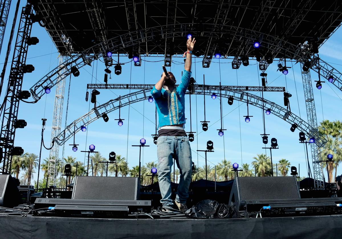 Recording artist Lil B performs onstage during day 1 of the 2015 Coachella Valley Music & Arts Festival (Weekend 1) at the Empire Polo Club on April 10, 2015 in Indio, California
