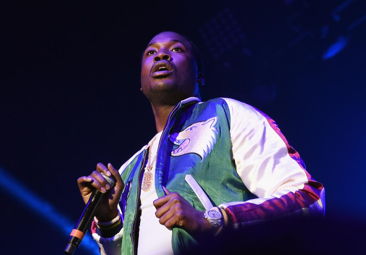 Meek Mill performs during V-103 Live Pop Up Concert at Philips Arena on March 25, 2017 in Atlanta, Georgia