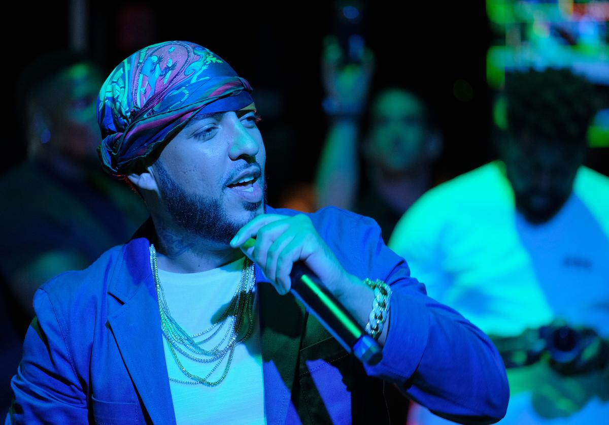 French Montana performs for a packed crowd during Samsung's Made for Summer Series Live at 837 at Samsung 837 on July 20, 2017 in New York City