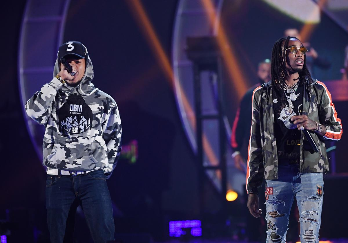 Chance The Rapper & Quavo at 2017 iHeart Radio Festival