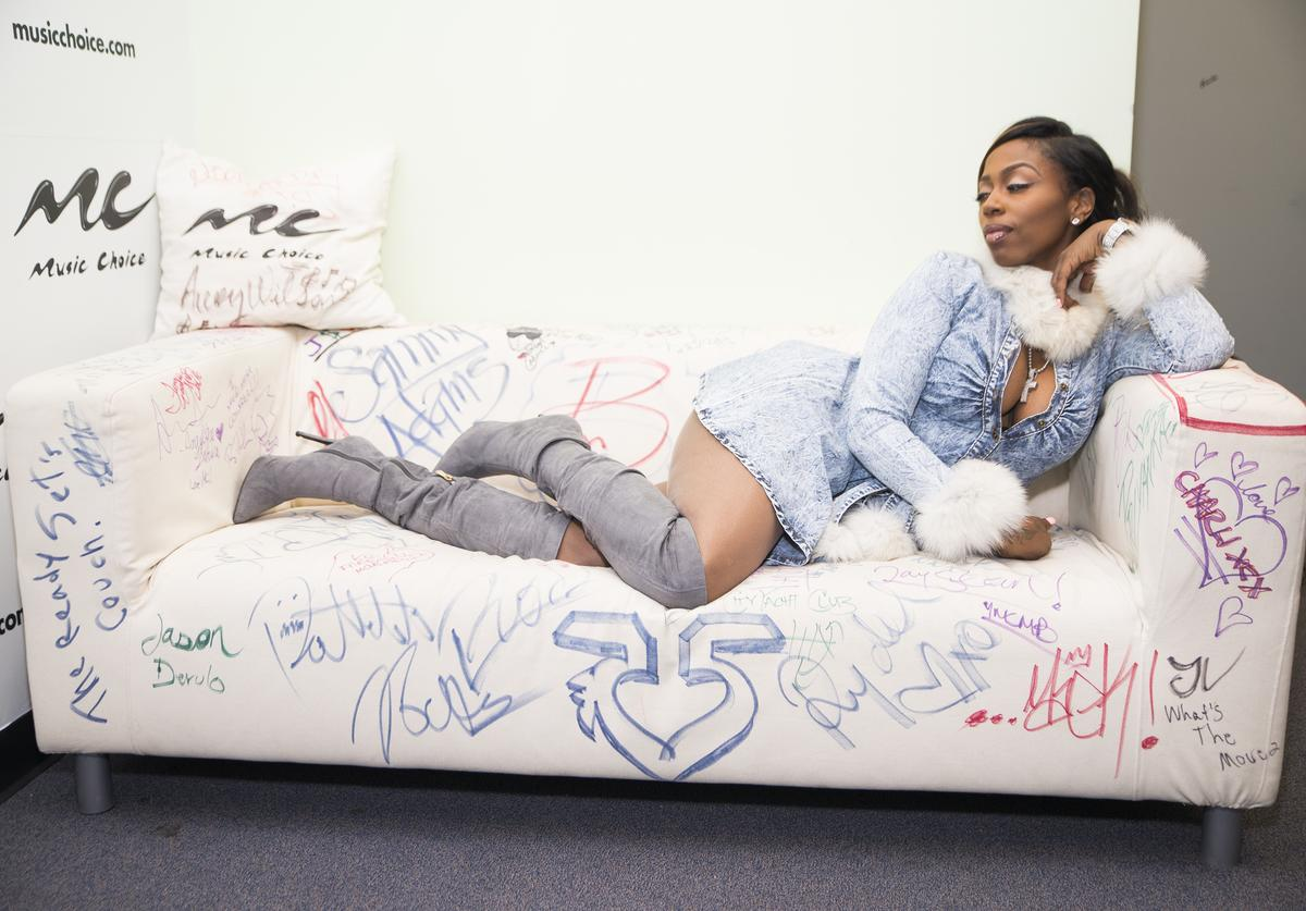 Hip-hop artist Kash Doll visits Music Choice on January 29, 2016 in New York Cit