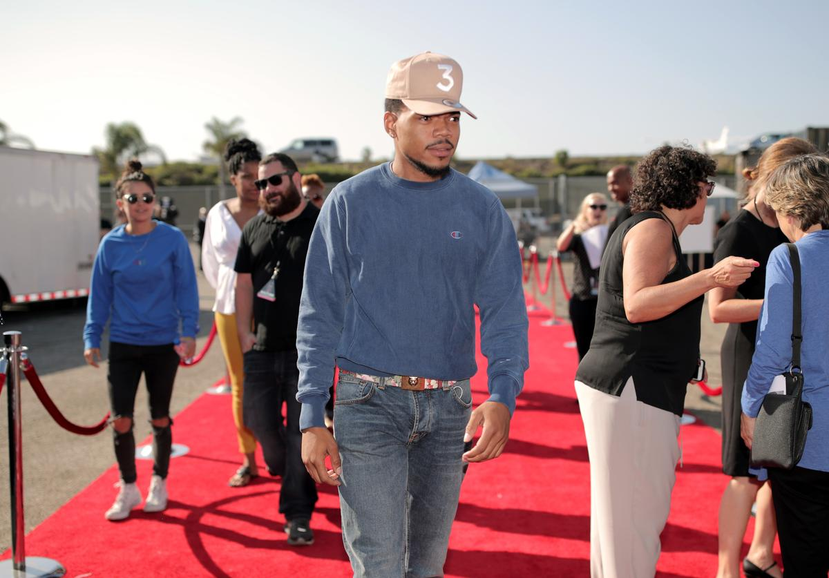 Chance the rapper on red carpet
