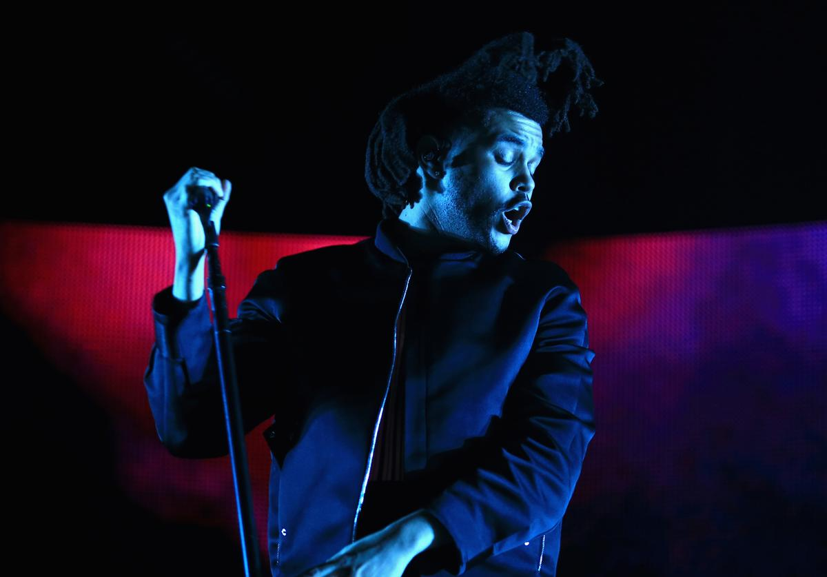 Singer The Weeknd performs onstage during day 2 of the 2015 Coachella Valley Music & Arts Festival (Weekend 1) at the Empire Polo Club on April 11, 2015 in Indio, California