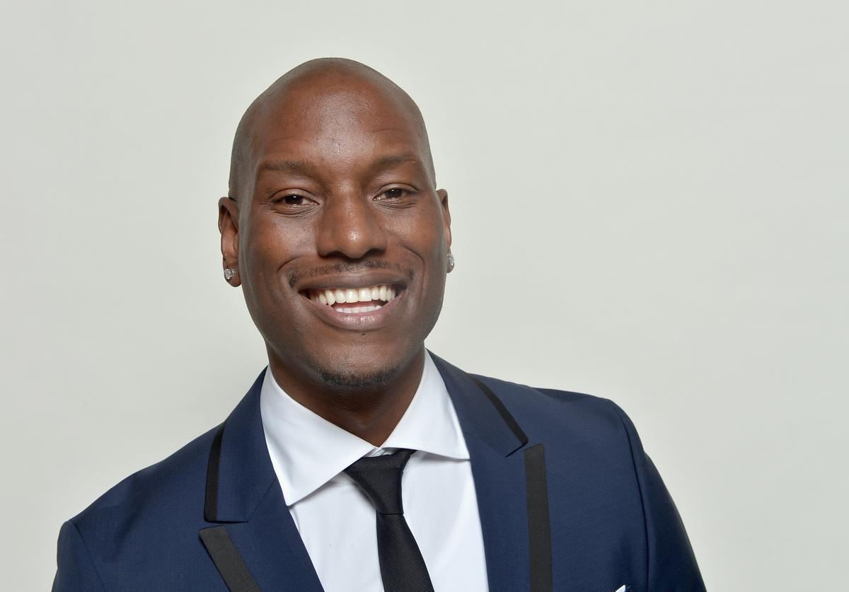 Actor Tyrese Gibson poses for a portrait during the 45th NAACP Image Awards presented by TV One at Pasadena Civic Auditorium on February 22, 2014 in Pasadena, California