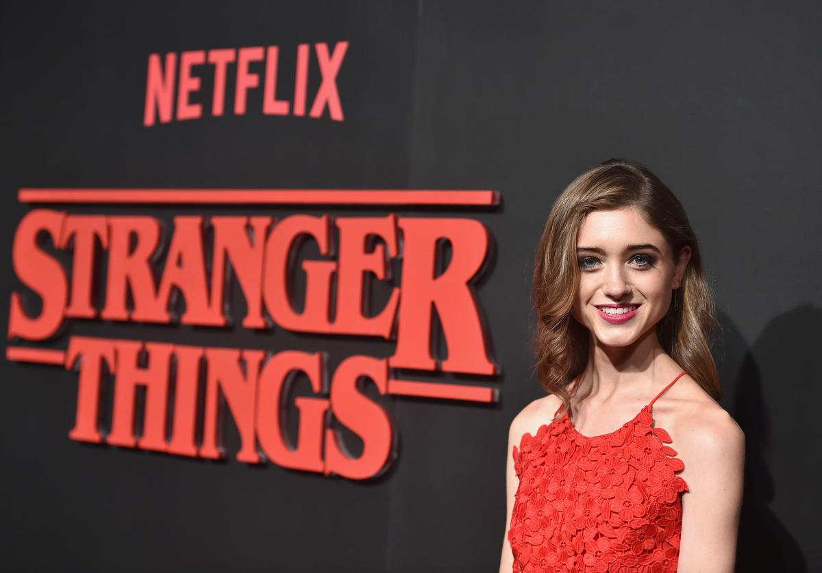 Actress Natalia Dyer attends the Premiere of Netflix's 'Stranger Things' at Mack Sennett Studios on July 11, 2016 in Los Angeles, California