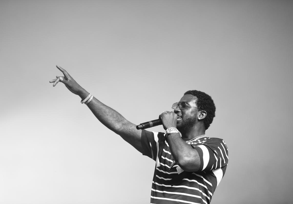 Gucci Mane performs at the Sahara Tent during day 2 of the 2017 Coachella Valley Music & Arts Festival (Weekend 2) at the Empire Polo Club on April 22, 2017 in Indio, California