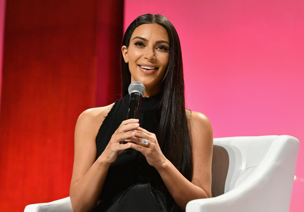 Kim Kardashian-West speaks at The Girls' Lounge dinner, giving visibility to women at Advertising Week 2016, at Pier 60 on September 27, 2016 in New York City