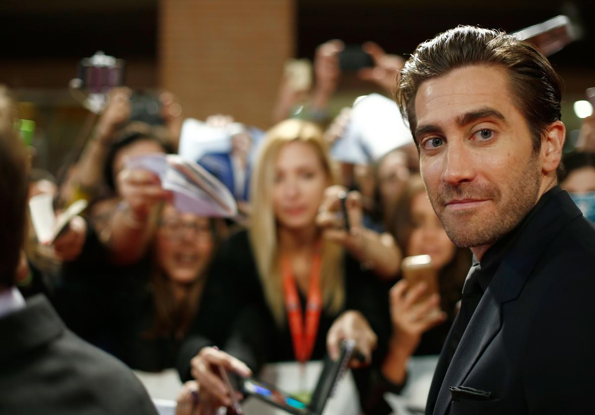 Jake Gyllenhaal walks a red carpet for 'Stronger' during the 12th Rome Film Fest at Auditorium Parco Della Musica on October 28, 2017 in Rome, Italy
