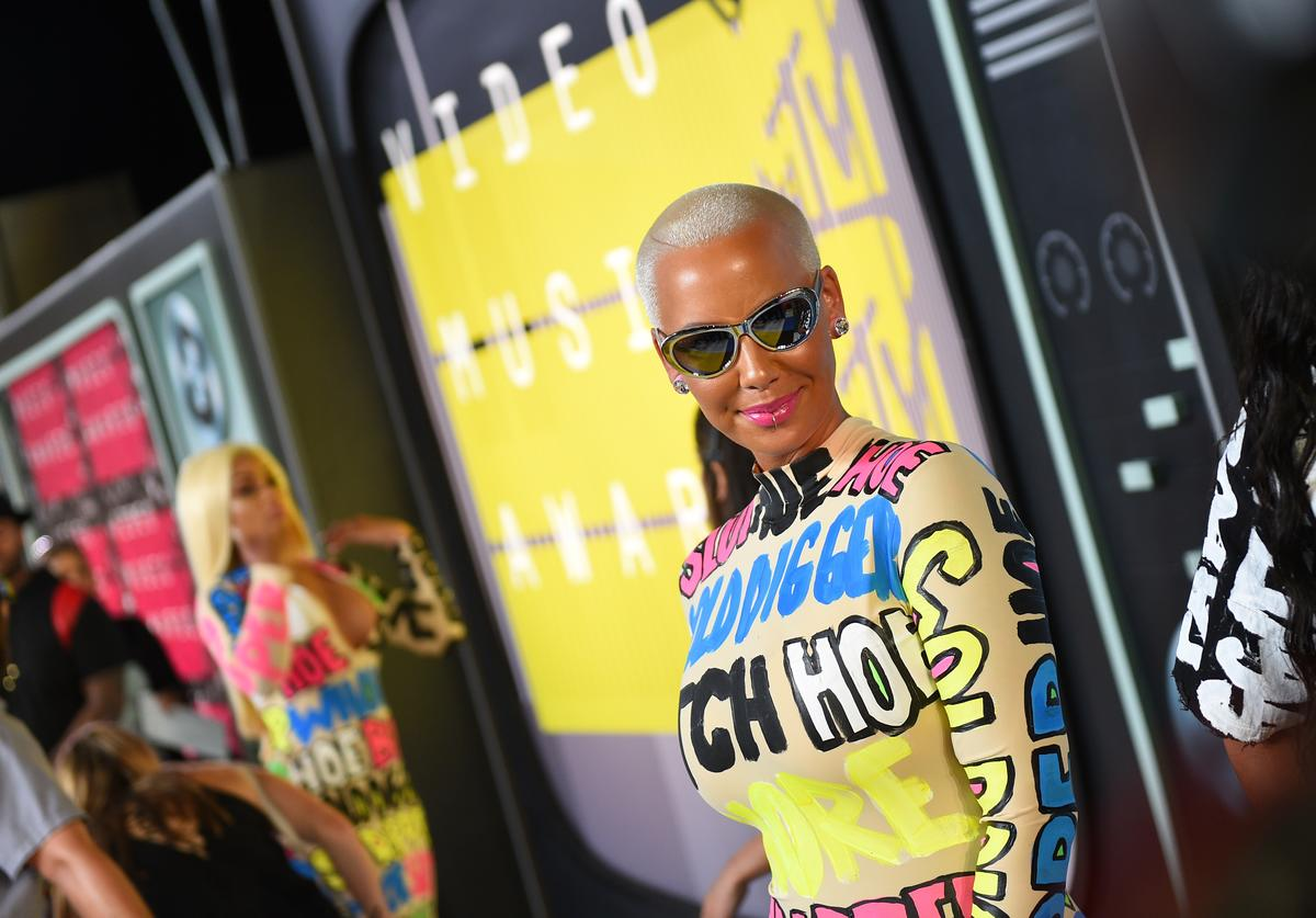 Model Amber Rose attends the 2015 MTV Video Music Awards at Microsoft Theater on August 30, 2015 in Los Angeles, California
