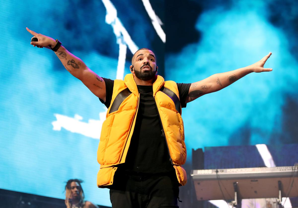Drake performs on the Coachella stage during day 2 of the Coachella Valley Music And Arts Festival (Weekend 1) at the Empire Polo Club on April 15, 2017 in Indio, California