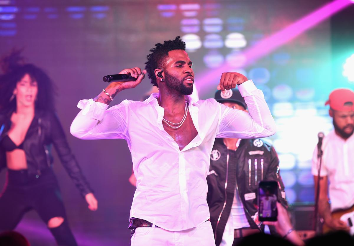 Jason Derulo performs at The Harmonist Cocktail Party during the 69th annual Cannes Film Festival at the Plage du Grand Hyatt on May 16, 2016 in Cannes, France