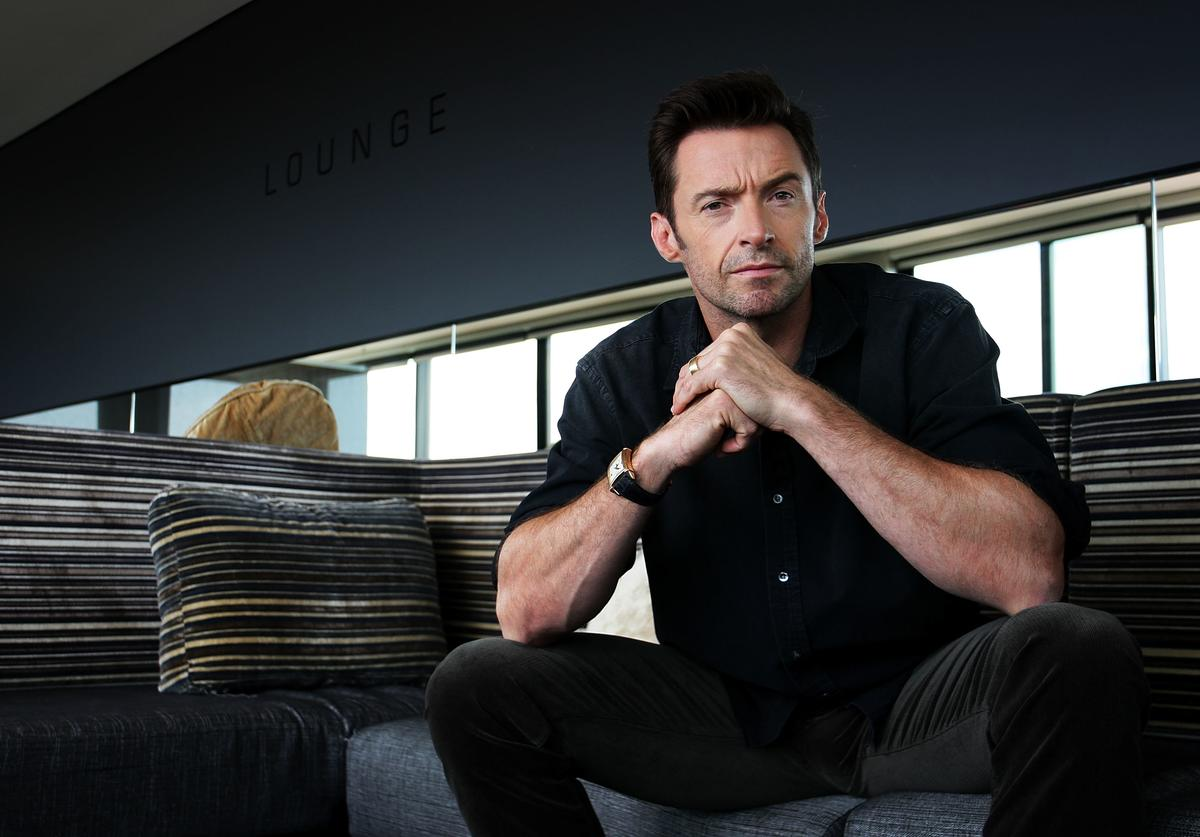 Australian actor Hugh Jackman poses during a photo call to promote his new film Real Steel at the Intercontinental Hotel on September 27, 2011 in Sydney, Australia