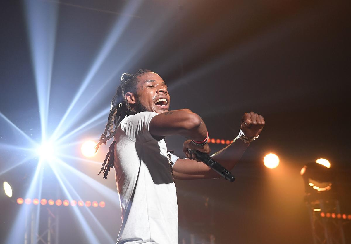 Rapper Fetty Wap performs on stage at Gucci and Friends Homecoming Concert at Fox Theatre on July 22, 2016 in Atlanta, Georgia