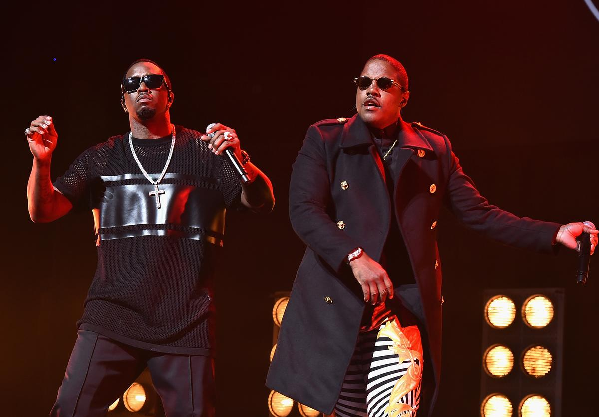 Mase and Sean Combs perform at the 'Can't Stop, Won't Stop: The Bad Boy Story' Premiere at the Beacon Theatre on April 27, 2017 in New York City