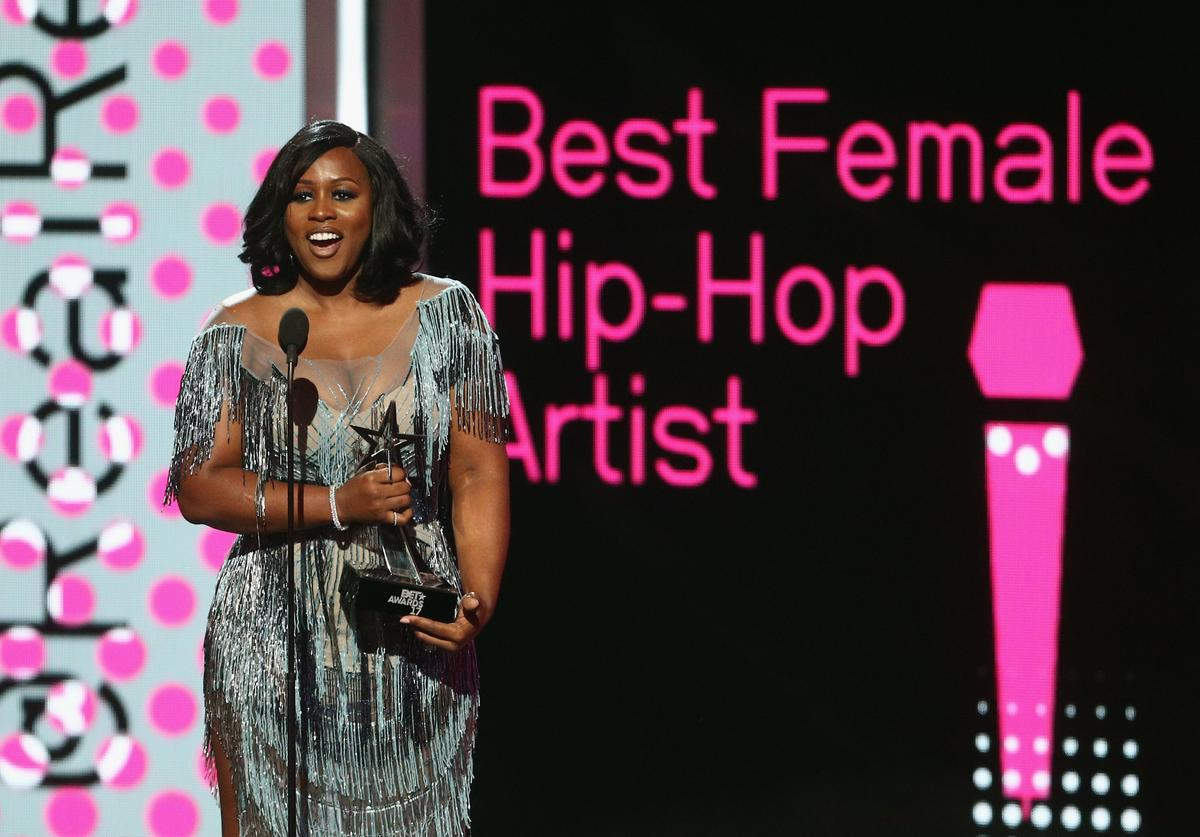 Remy Ma accepts the award for Best Female Hip Hop Artist onstage at 2017 BET Awards at Microsoft Theater on June 25, 2017 in Los Angeles, California