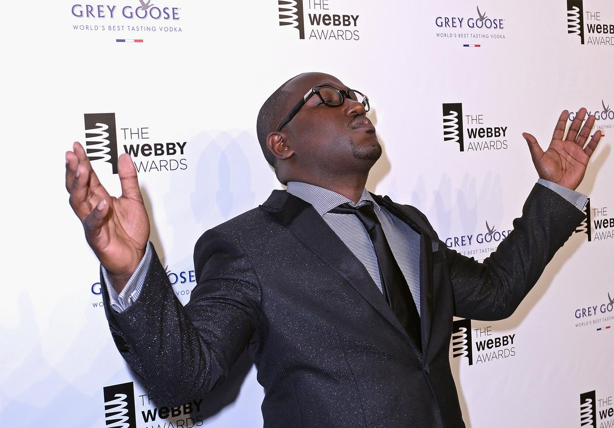 Comedian Hannibal Buress attends GREY GOOSE Vodka hosts The 19th Annual Webby Awards on May 18, 2015 in New York City