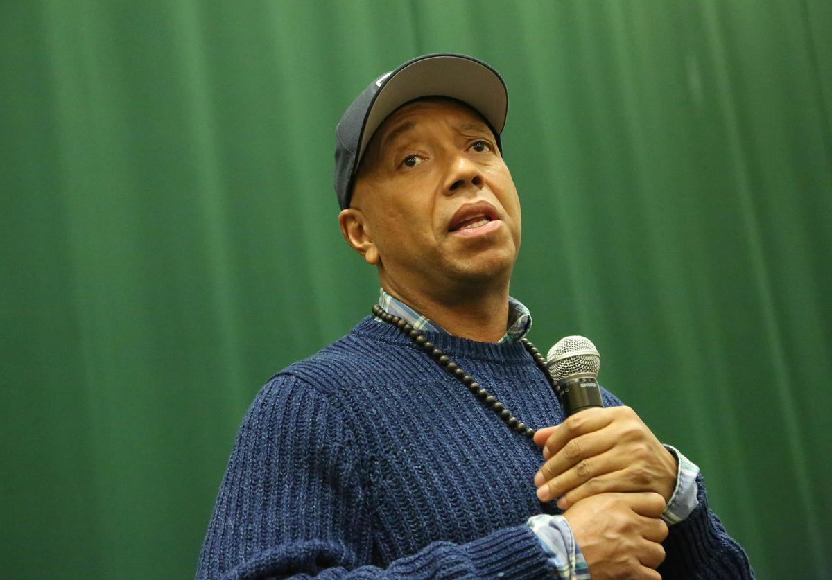 Russell Simmons talks about his new book, 'Success Through Stillness: Meditation Made Simple' at Barnes & Noble Tribeca on March 5, 2014 in New York City