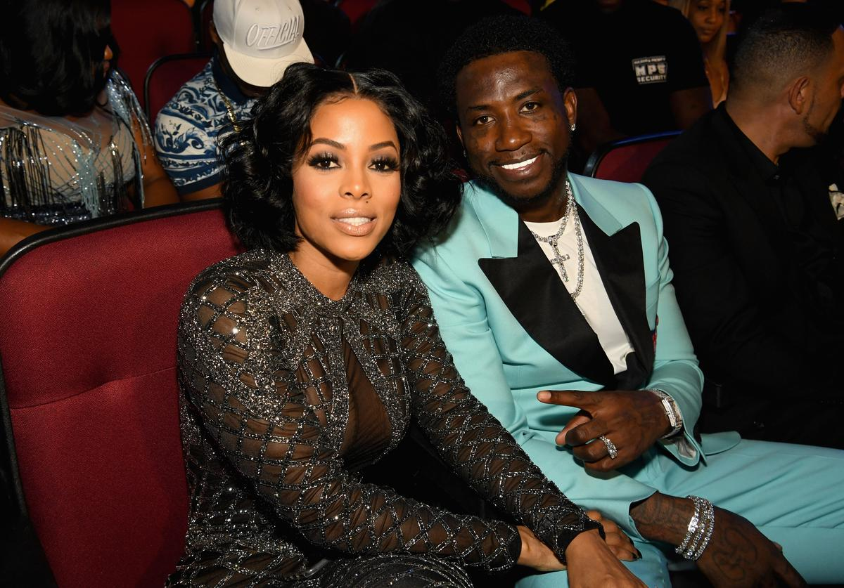 Keyshia Ka'oir (L) and Gucci Mane attend 2017 BET Awards at Microsoft Theater on June 25, 2017 in Los Angeles, California