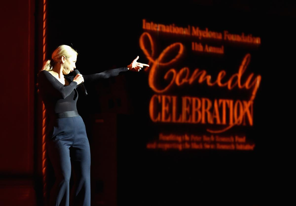 Iliza Shlesinger performs onstage at the International Myeloma Foundation 11th Annual Comedy Celebration at The Wilshire Ebell Theatre on November 4, 2017 in Los Angeles, California