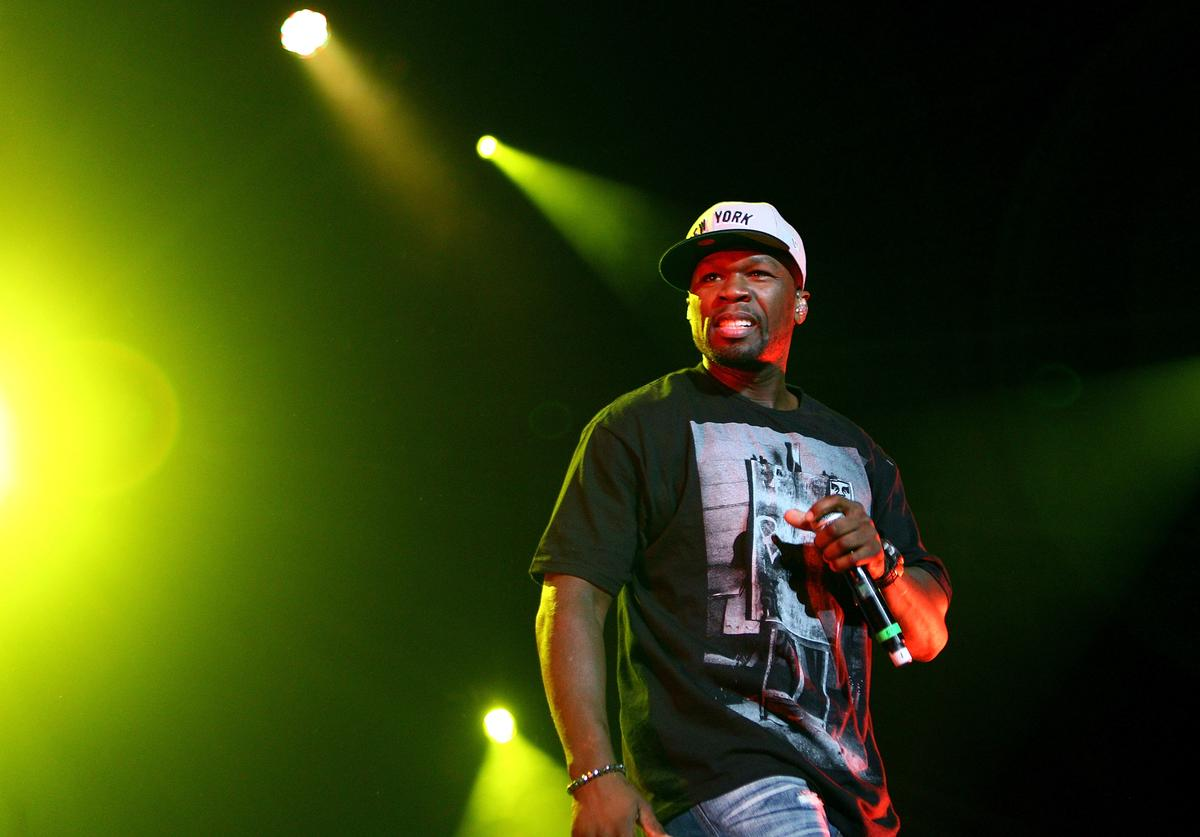 50 Cent performs on stage during the Winterbeatz Music Festival on August 19, 2011 in Sydney, Austral