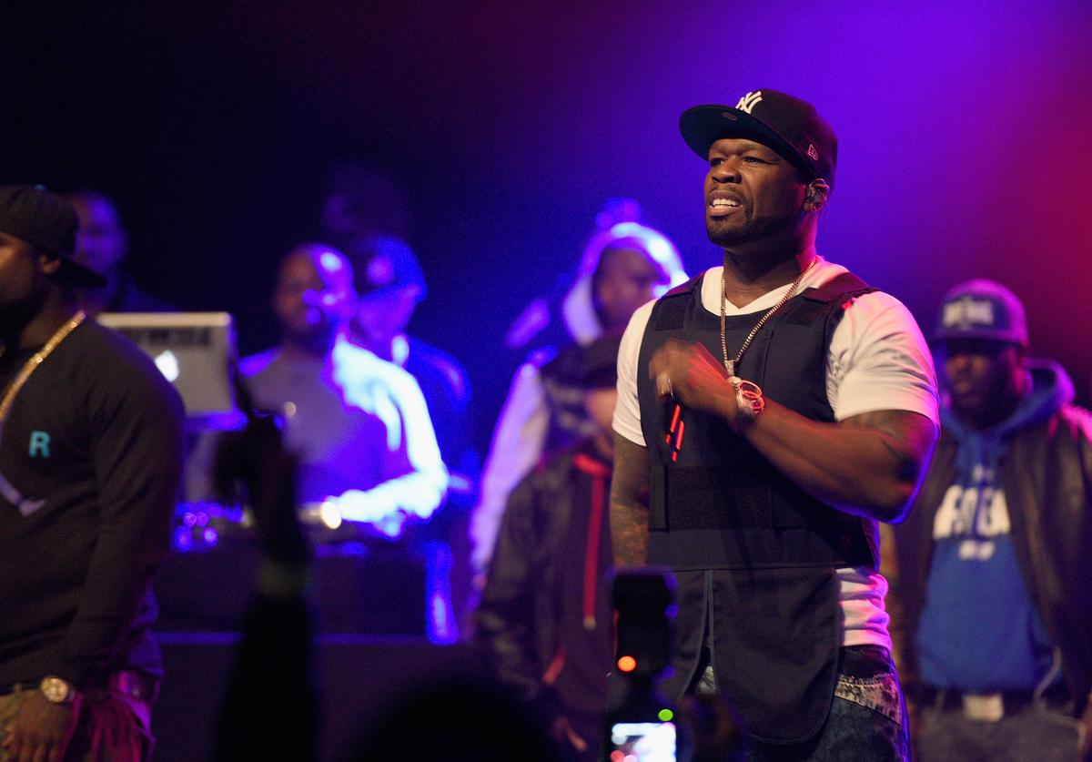 50 Cent performs onstage at the Power105.1 Breakfast Club Anniversary party presented by Verizon on December 17, 2015 in New York City