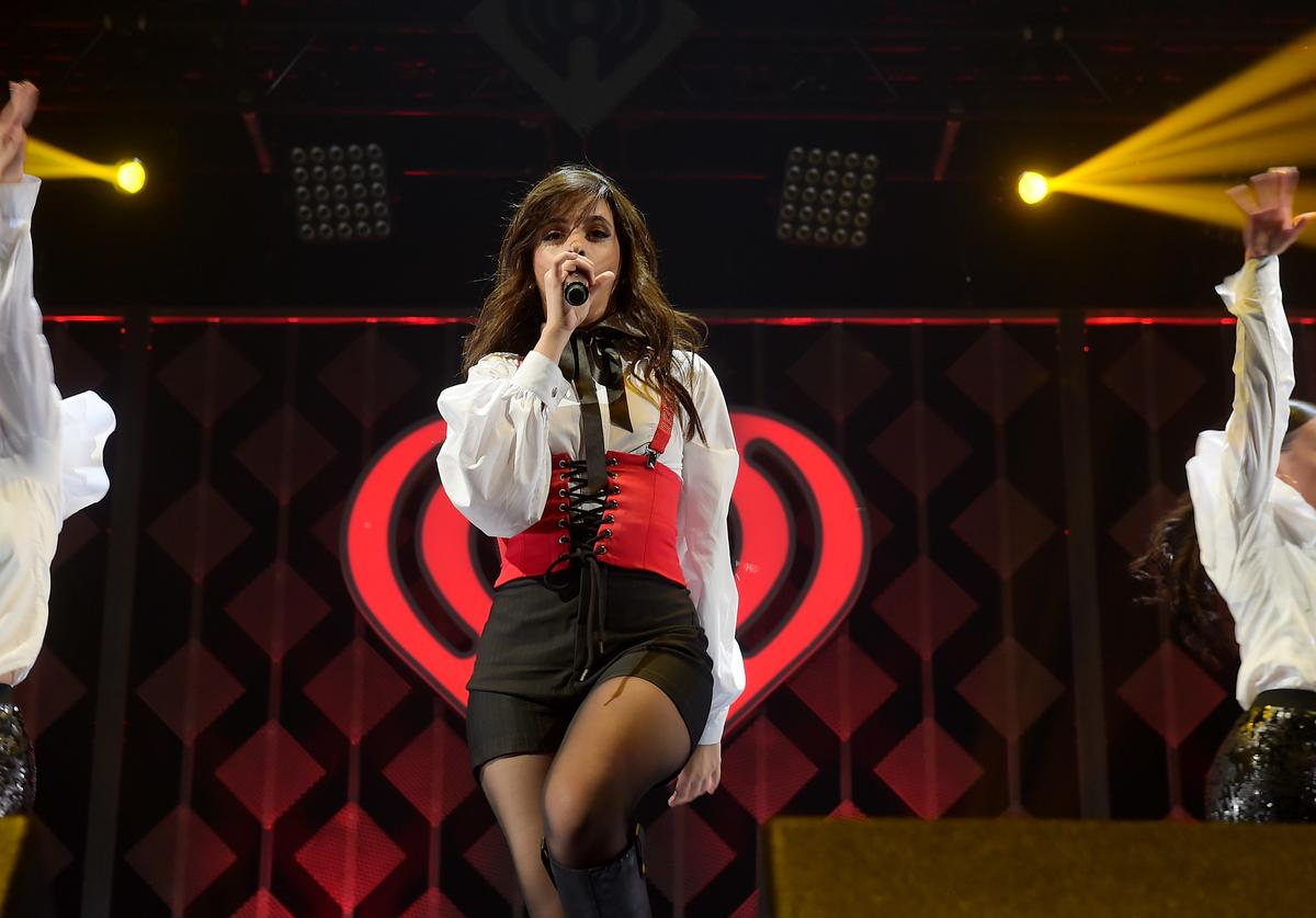 Camila Cabello performs at Y100's Jingle Ball 2017 at BB&T Center on December 17, 2017 in Sunrise, Florida