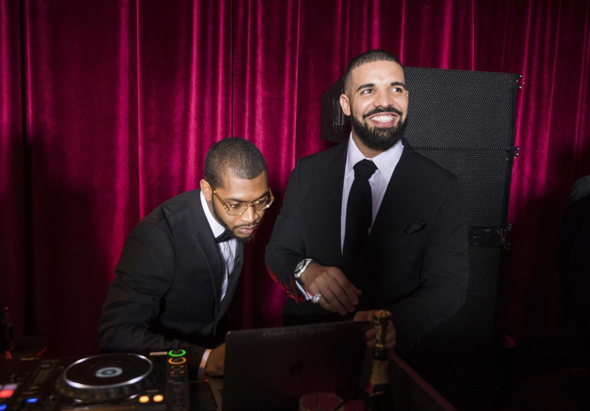 In this handout photo provided by Netflix, Drake (R) attends the Netflix Golden Globes after party at Waldorf Astoria Beverly Hills on January 7, 2018 in Beverly Hills, California
