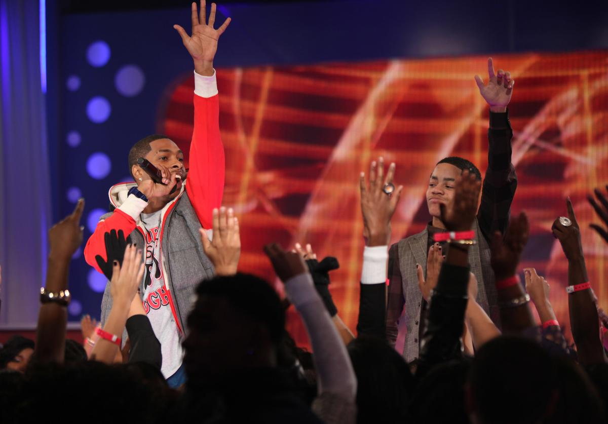 New Boyz perform at BET's 106 & PARTY's New Years Eve special at BET Studios on December 11, 2009 in New York City