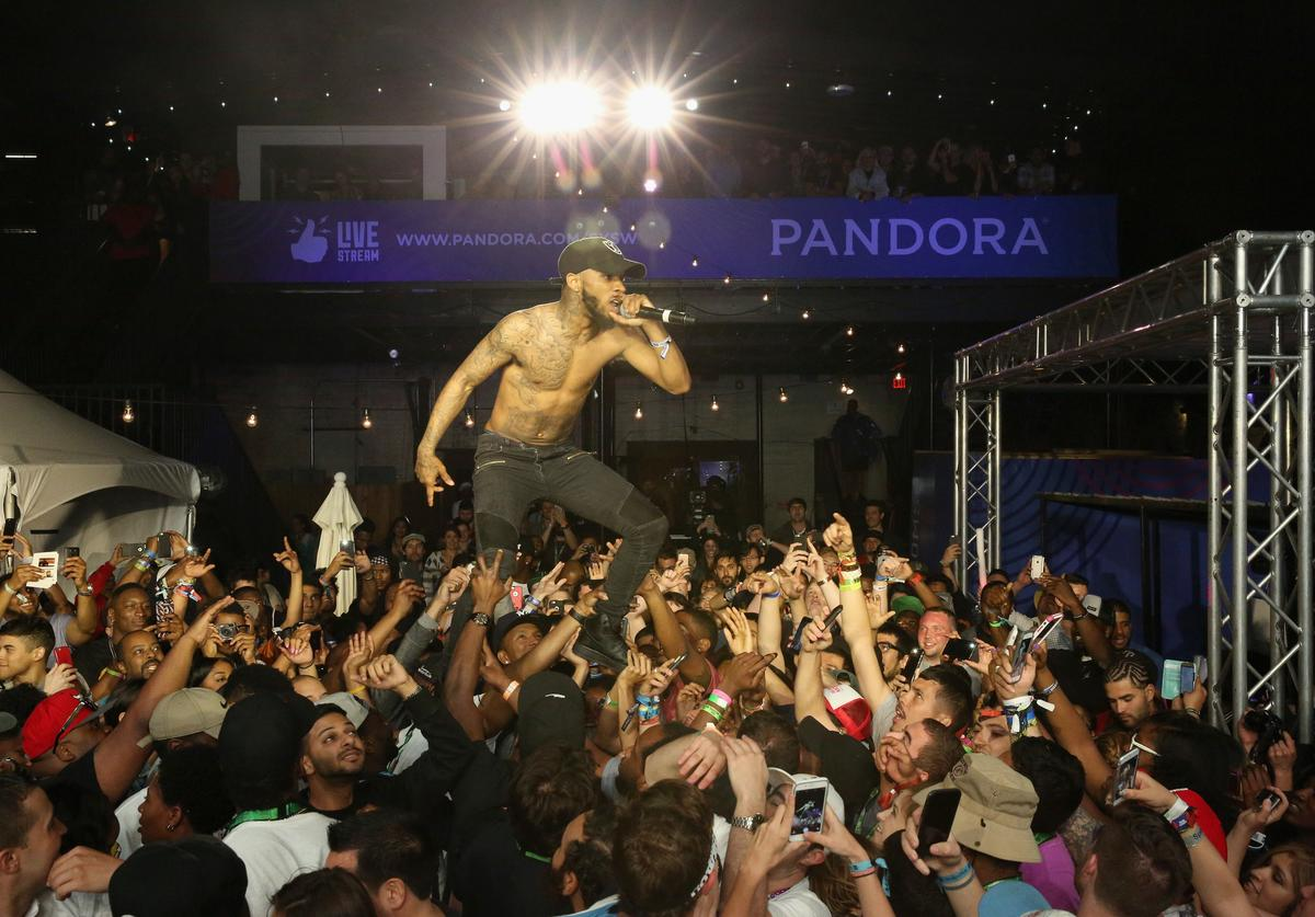 Rapper Tory Lanez performs onstage during the PANDORA Discovery Den SXSW on March 18, 2016 in Austin, Texas