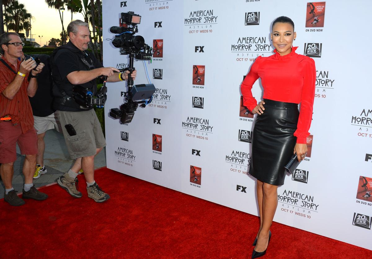 Actress Naya Rivera arrives at the Premiere Screening of FX's 'American Horror Story: Asylum' at the Paramount Theatre on October 13, 2012 in Hollywood, California